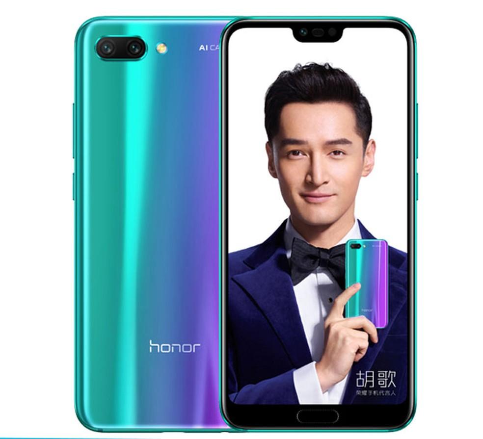 O Honor 10 tem uma carcaça furta-cor (Foto: Reprodução/Huawei)