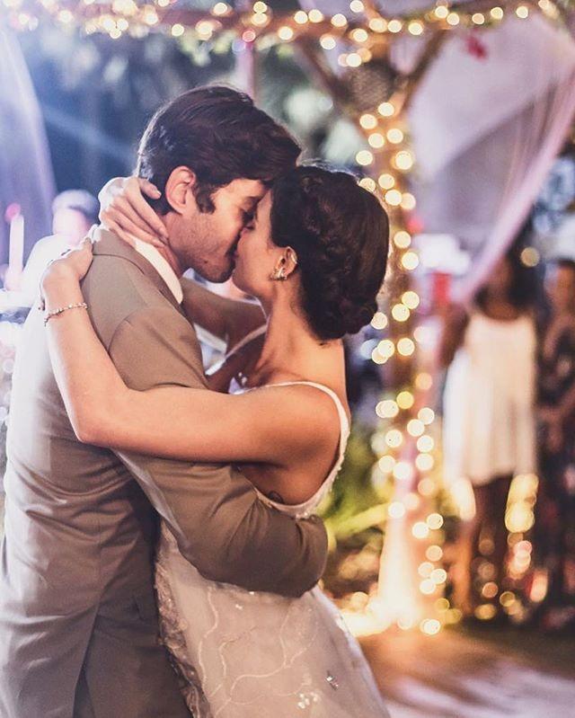 Isis Valverde posta foto do casamento com mensagem emocionante no aniversário do marido (Foto: Reprodução/Instagram)