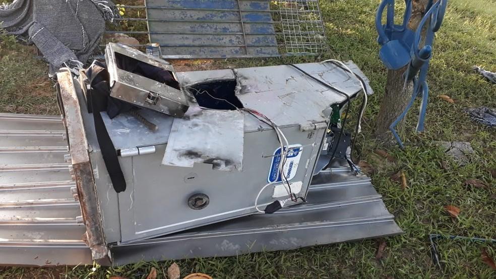 Ladrões roubaram cofre de posto de combustíveis em Sorocaba — Foto: Arquivo Pessoal