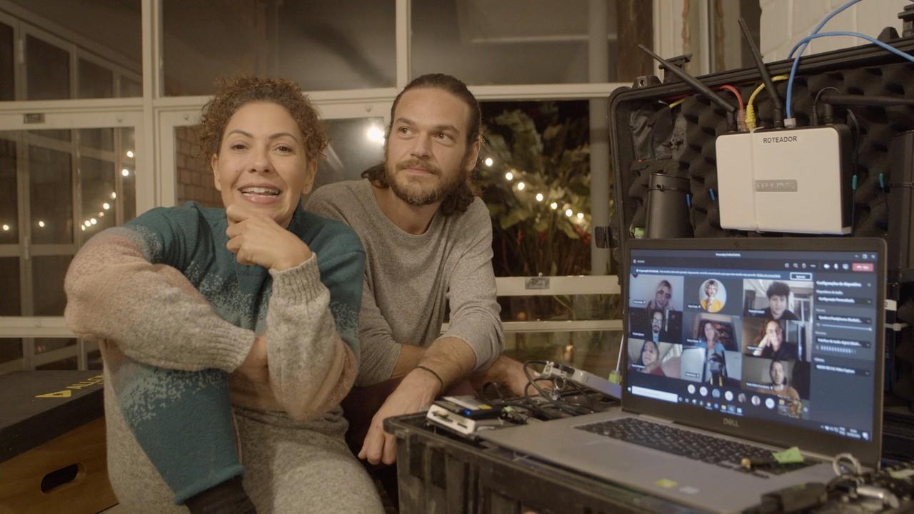 Veja os bastidores das gravações remotas de 'Amor e Sorte'