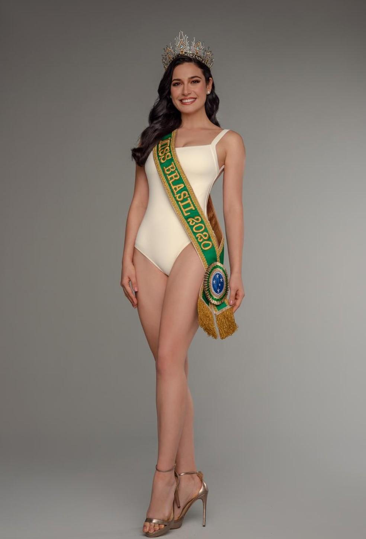A gaúcha Julia Gama é a Miss Brasil 2020 e vai representar o paÍs no Miss Universo, nos EUA — Foto: Marcelo Faustini
