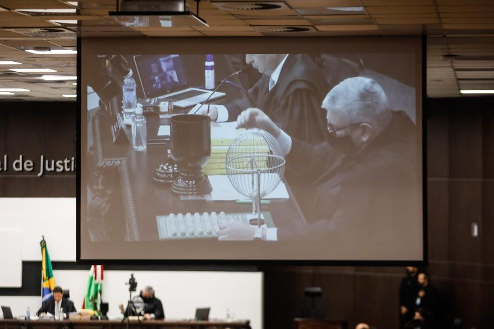 Tribunal de Justiça de Santa Catarina definiu em 23 de setembro cinco integrantes da comissão que vai analisar o processo de impeachment do governador e vice  — Foto: Diorgenes Pandini/NSC