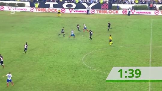 Oito minutos prometidos, só dois de bola rolando: os acréscimos de Vasco x Bahia