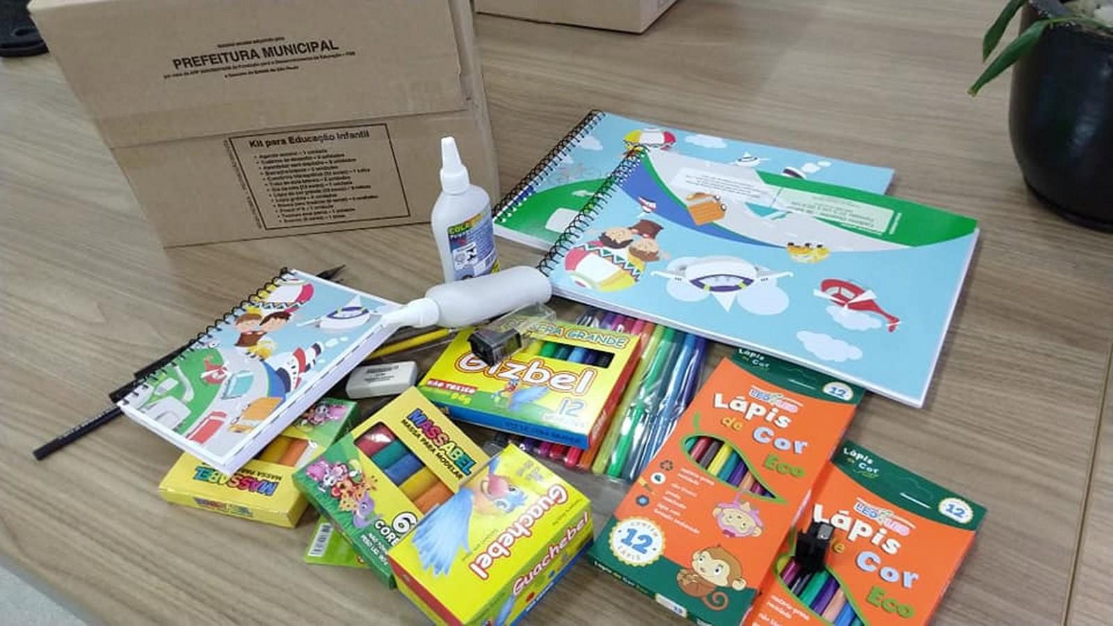 Prefeitura destina kits de materiais escolares para toda a rede municipal - Noticias