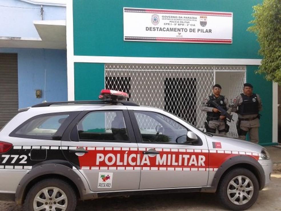 Destacamento de Polícia Militar em Pilar, PB — Foto: Polícia Militar/Divulgação./Arquivo