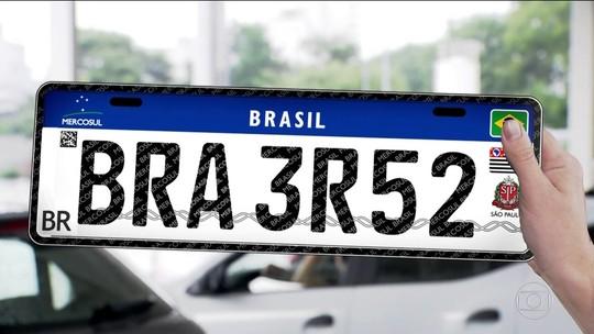 Placas de veículos devem começar a usar padrão do Mercosul daqui a 6 meses