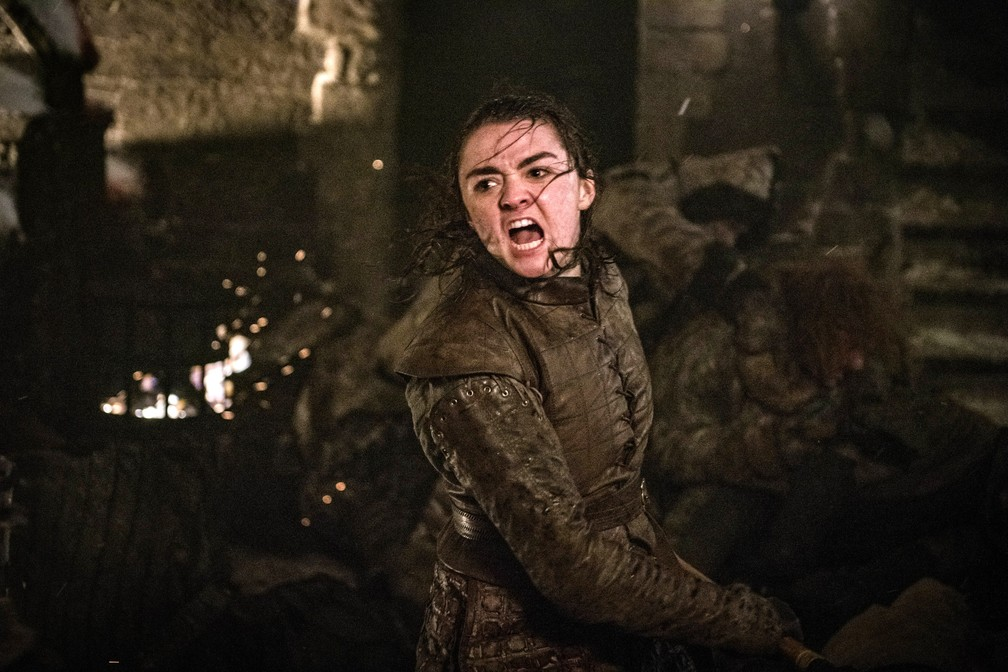 Game Of Thrones: Arya no terceiro episódio da última temporada — Foto: HBO