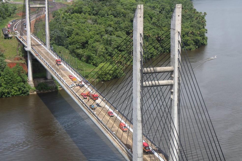 Ponte que liga o Amapá à Guiana Francesa — Foto: Divulgação/Préfecture de la Guyane