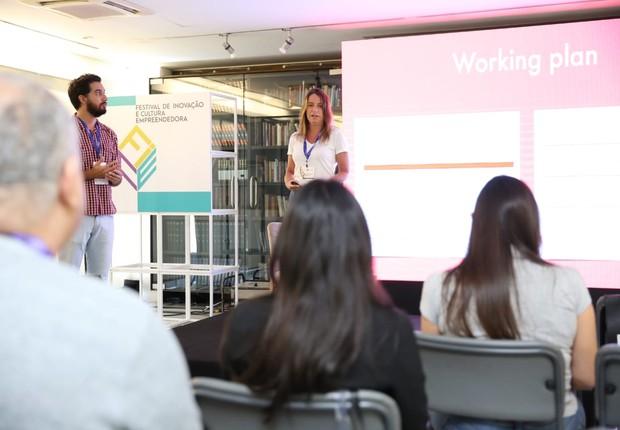 Renata Porto, sócia da Malagueta, durante palestra no Festival de Inovação e Cultura Empreendedora (FICE) (Foto: Alexandre DiPaula/Época NÉGOCIOS)
