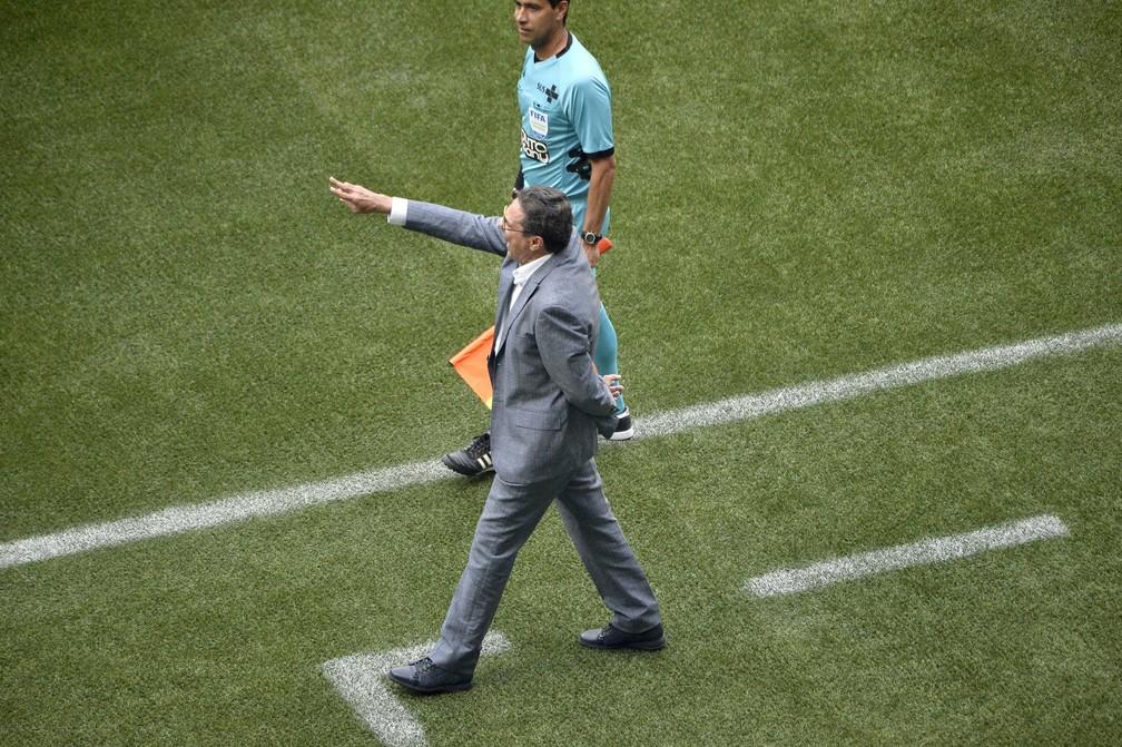 Vanderlei Luxemburgo em Palmeiras x Corinthians — Foto: Marcos Ribolli