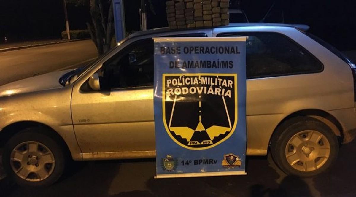 Casal é preso transportando 35 quilos de maconha em rodovia de MS
