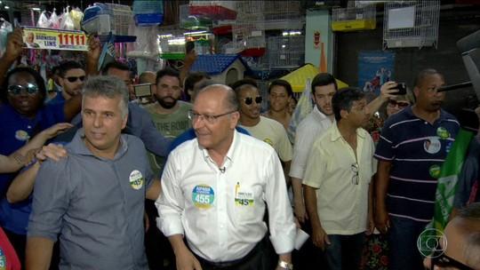 Alckmin critica Bolsonaro e diz que não será 'pau mandado de banqueiro'