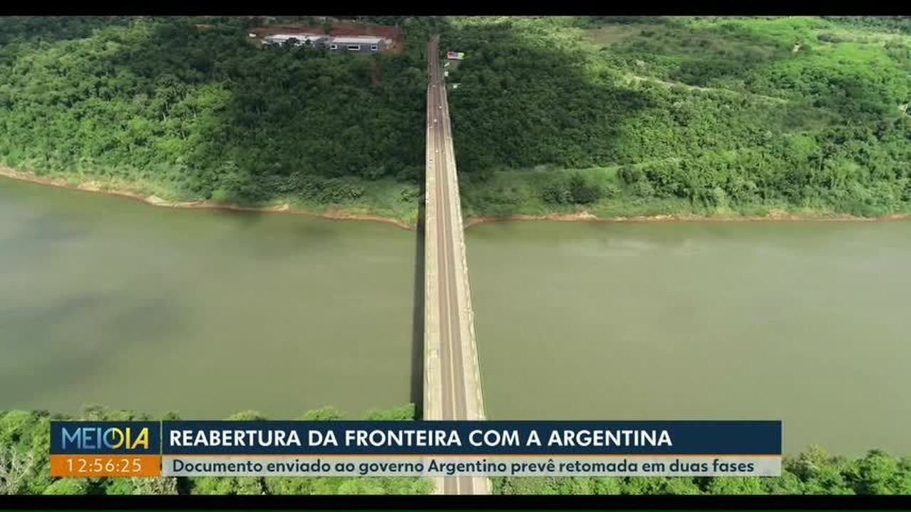 Protocolo de segurança prevê a reabertura da fronteira entre Brasil e Argentina