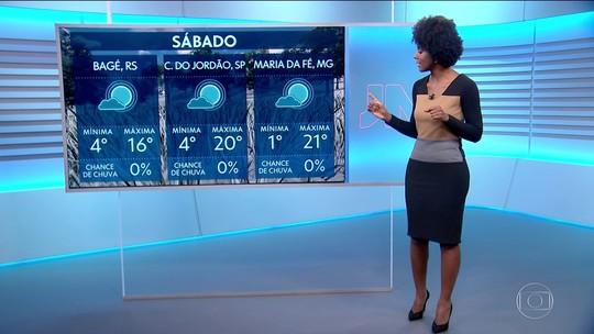 Frente fria no Sul e e no Sudeste; veja a previsão para sábado (25)