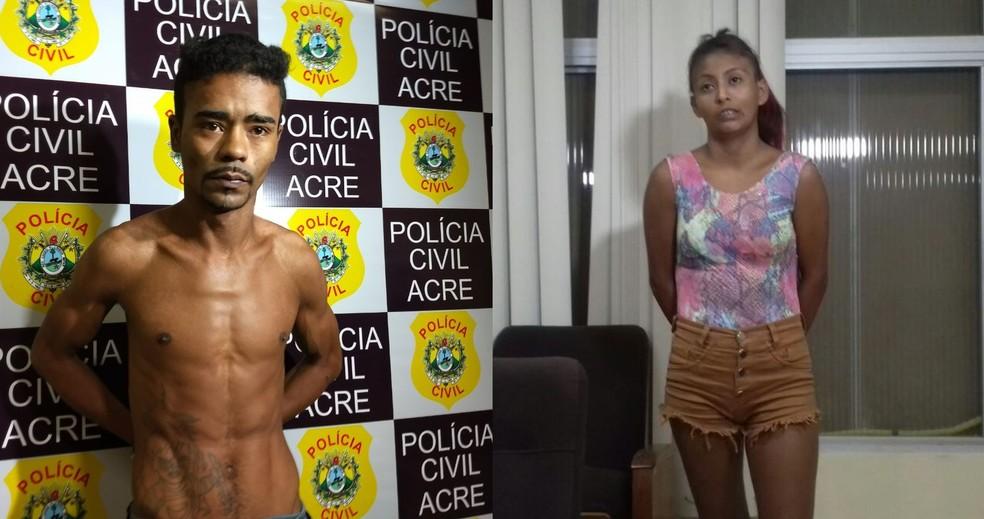 André Martins confessou que matou Débora por vingança. Luciele Nascimento foi apontada pela polícia como a pessoa que filmou o crime — Foto: Aline Nascimento e Karolini Oliveira/G1
