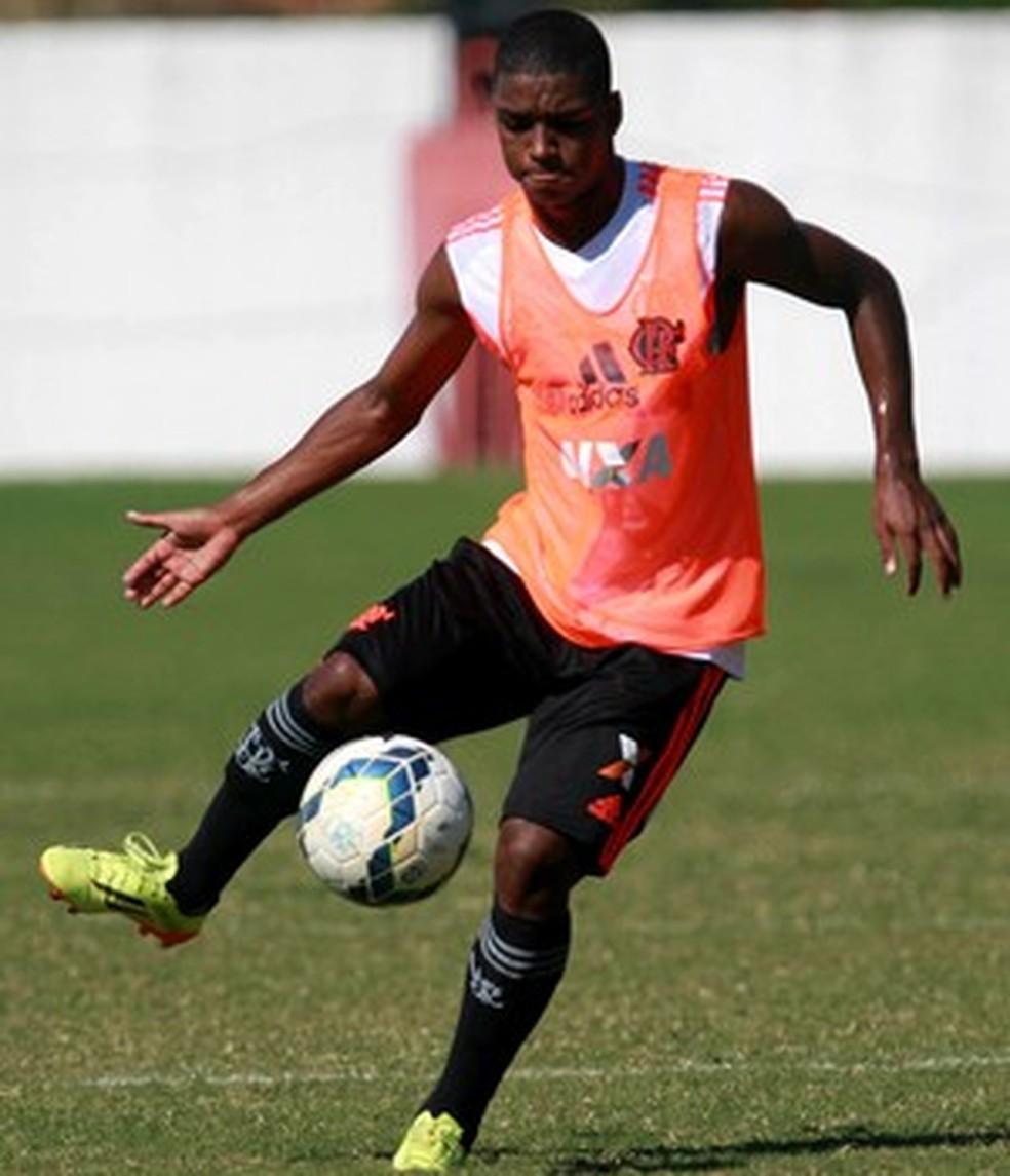 O atacante Caio Rangel foi eleito a Joia 2014 (Foto: Gilvan de Souza/Flamengo)