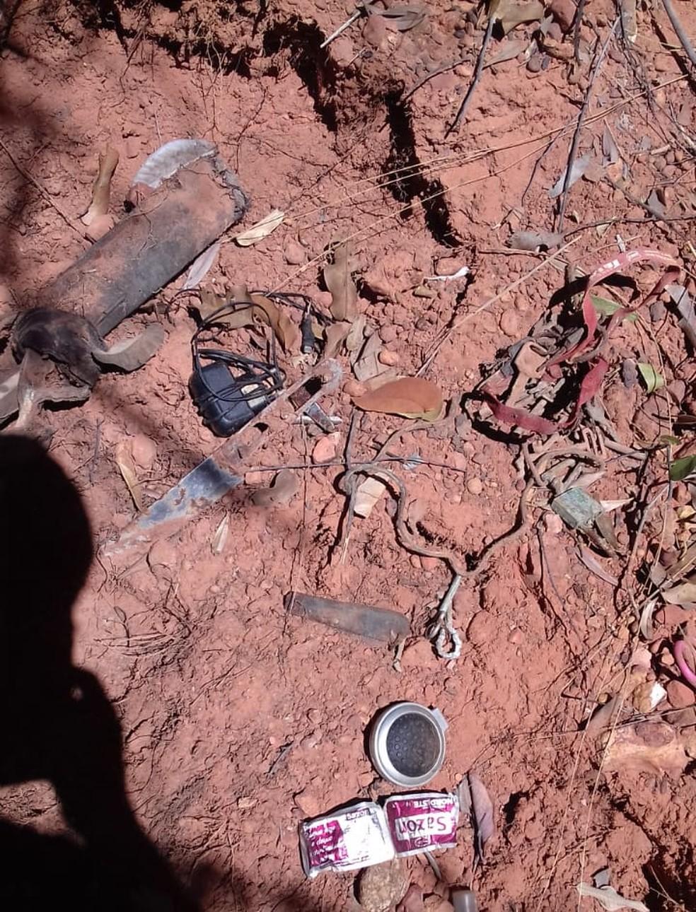 Família de Saulo Antônio José reconheceu seus pertences — Foto: Divulgação/PM