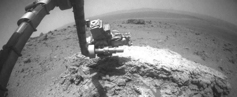 Imagem produzida pela sonda Opportunity (Foto: Divulgação/NASA)