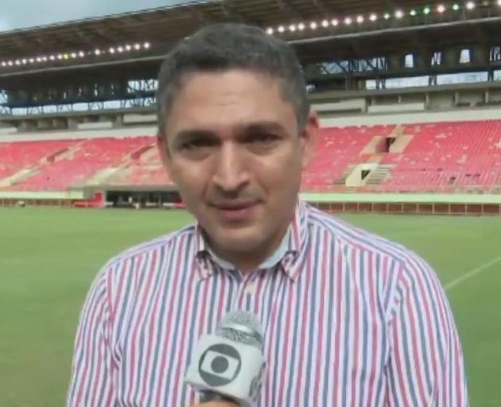 secretário adjunto de esporte, Júnior Santiago — Foto: Reprodução/Rede Amazônica