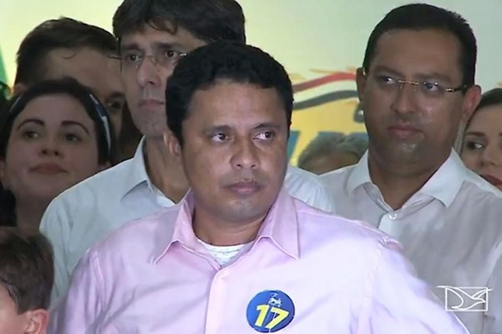 Samuel Campelo disputa uma vaga para o Senado pelo PRTB (Foto: Reprodução / TV Mirante)