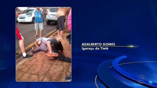 Pedestre usa 'mata-leão' para imobilizar ladrão que tentou roubar carro em Igaraçu do Tietê