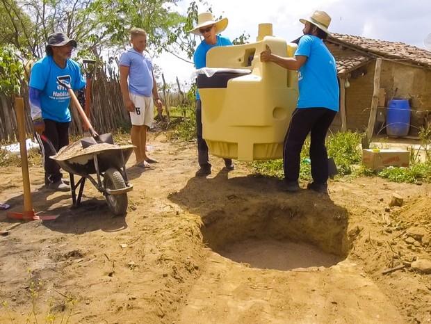 Iniciativa utiliza banheiros secos para combater falta de saneamento básico  no Nordeste  (Foto: Divulgação)