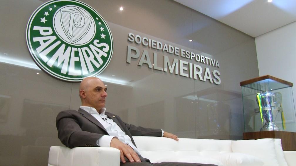 Maurício Galiotte, presidente do Palmeiras — Foto: Fernando Vidotto