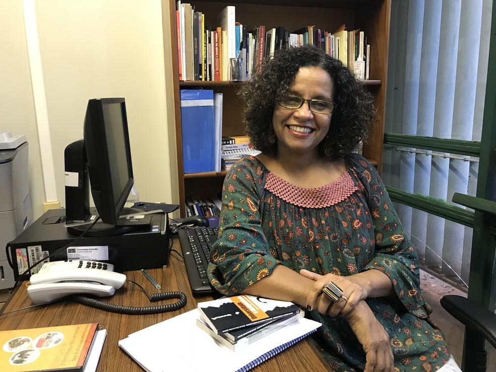 Professora Renísia Filice, da UnB, faz balanço sobre cotas raciais (Foto: Marília Marques/G1)