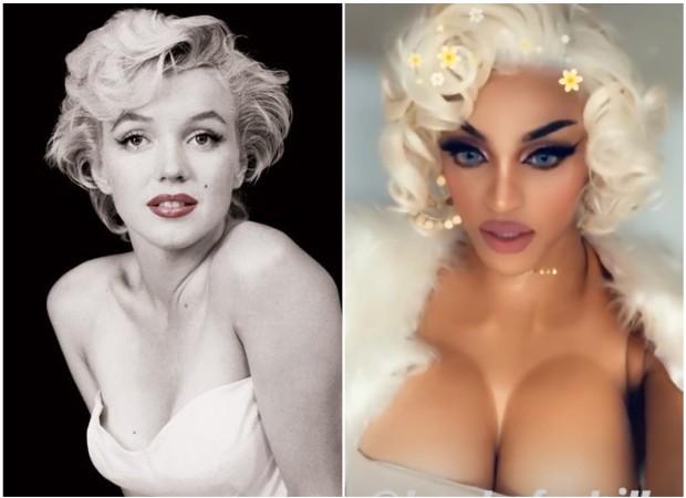 Pabllo Vittar e Marilyn Monroe (Foto: Instagram/Reprodução)