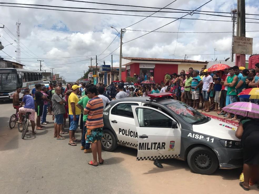 Cinco PMs foram assassinados no RN em 2018  (Foto: Kleber Teixeira/Inter TV Cabugi)