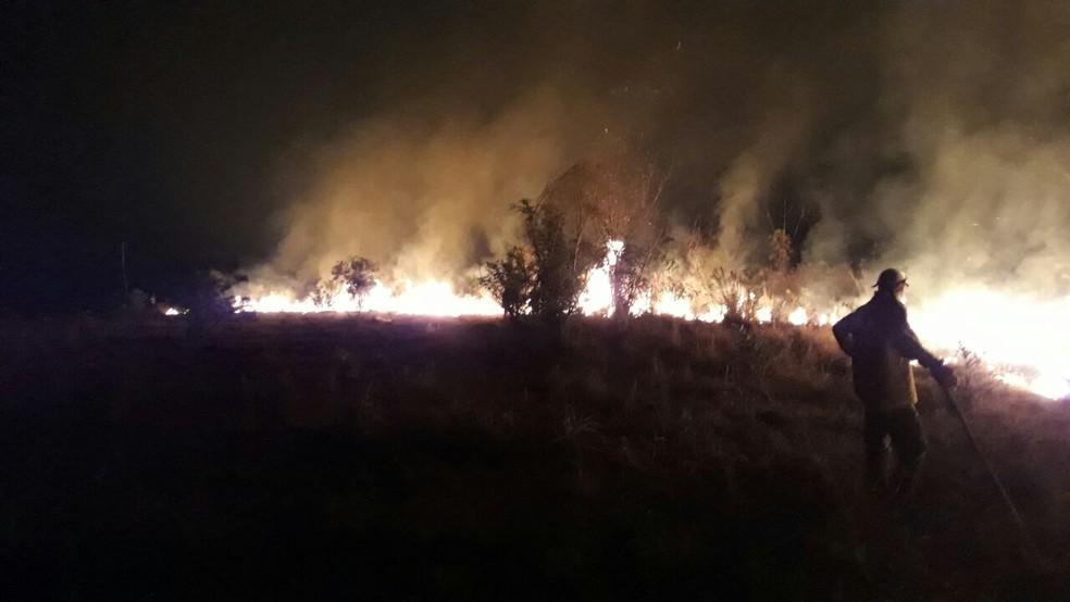 Há mais de um mês o local está em chamas (Foto: Acervo Parque Nacional do Araguaia/ ICMBio)