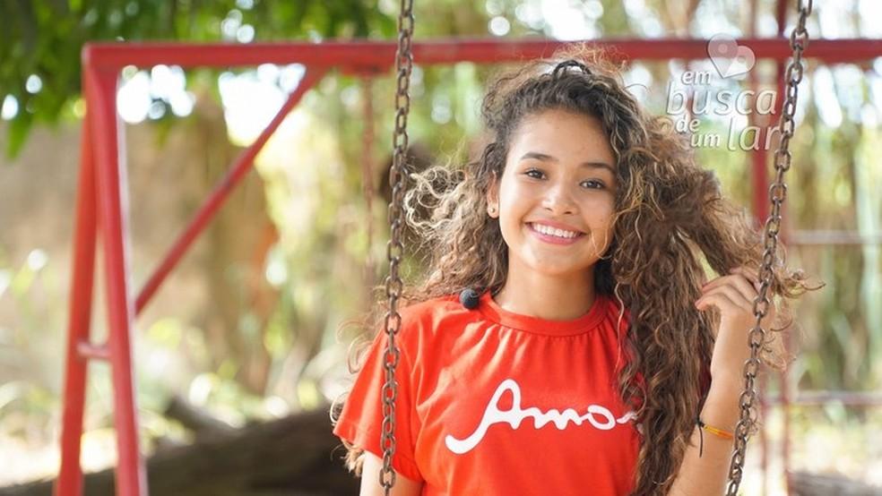 """Rutieli tem 14 anos e participa do projeto """"Em Busca de um Lar"""" da Vara da Infância e Juventude do DF — Foto: VIJ-DF/Divulgação"""