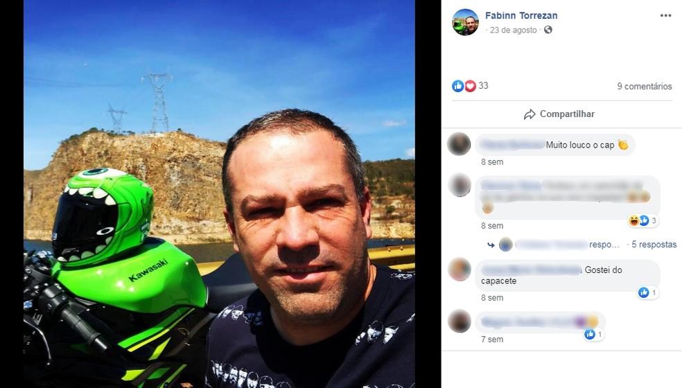 Fábio Luiz Torrezan chegou a ser socorrido pela equipe de resgate, mas não resistiu aos ferimentos — Foto: Facebook/Reprodução