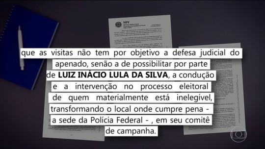 MPF diz que políticos tentam 'ludibriar regras' com visitas a Lula na prisão
