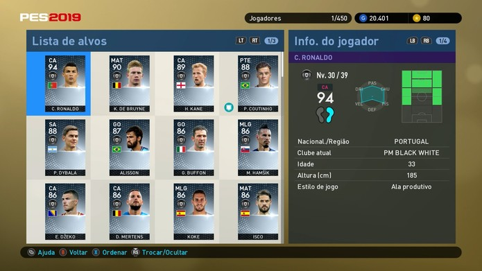 dcf24269a0 Use Empresários para conseguir novos jogadores no myClub de PES 2019 (Foto   Reprodução