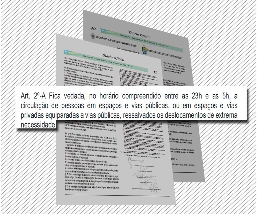 Novo decreto estipulou toque de recolher no Piauí — Foto: Adelmo Paixão/G1