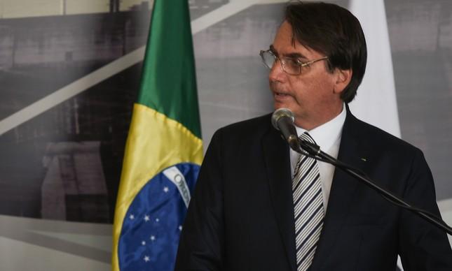Bolsonaro na cerimônia de posse do diretor-geral de Itaipu Binacional