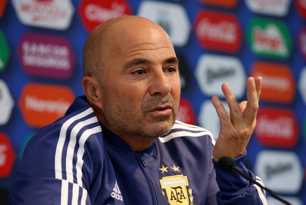 Jorge Sampaoli comandou a Argentina em 2018 — Foto: Reuters