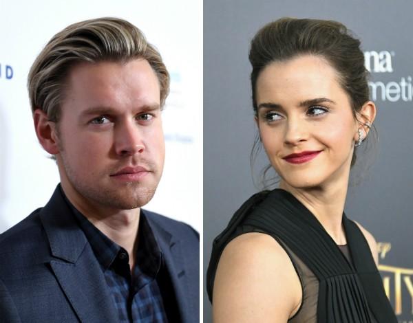 O ator e cantor Chord Overstreet e a atriz Emma Watson (Foto: Getty Images)