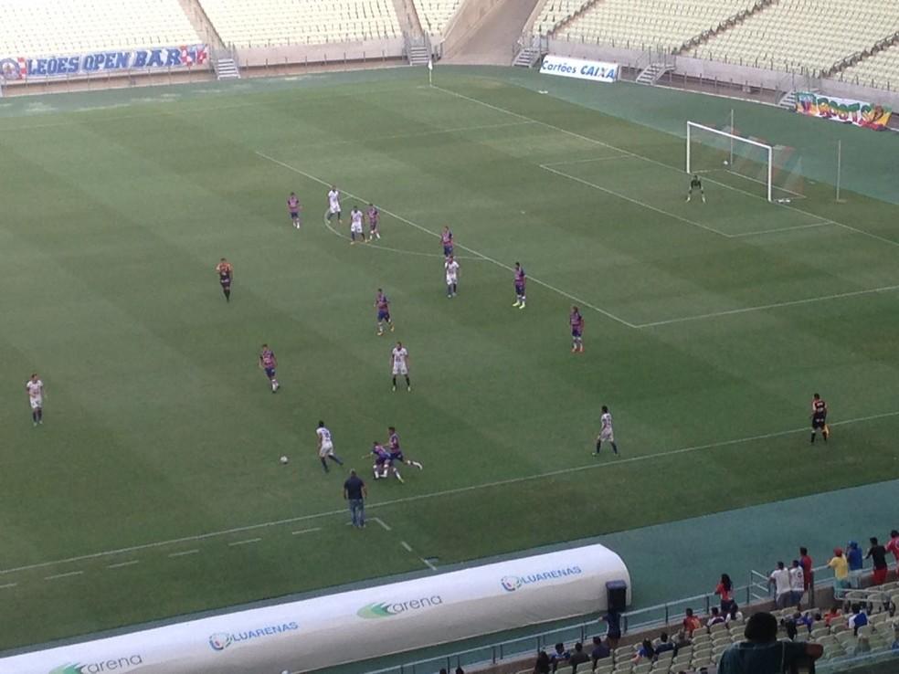 Fortaleza estreou contra o Iguatu na Taça Fares Lopes (Foto: Eduardo Trovão/TV Verdes Mares)