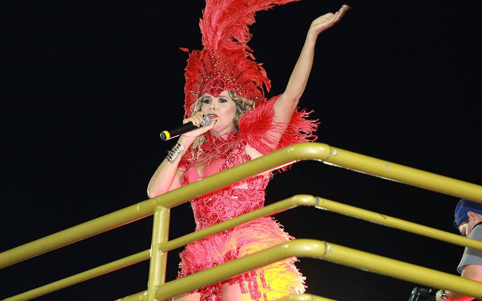 Márcia Freire é uma das atrações do carnaval de Pirangi (Foto: Mauro Zaniboni /Ag Haack)