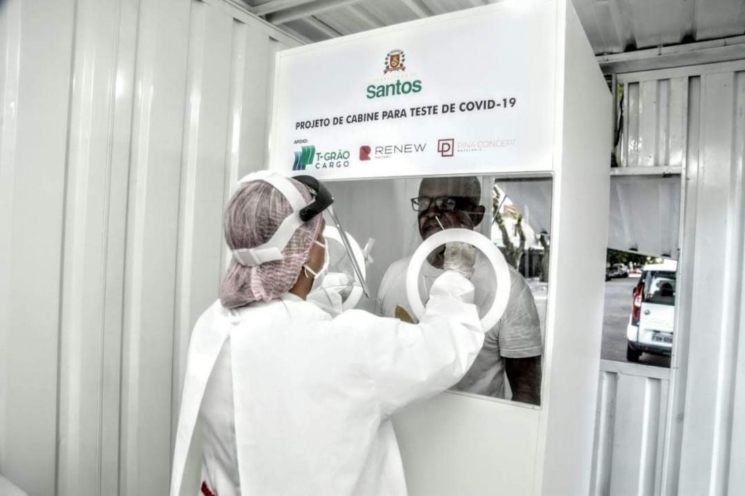 Policlínicas de Santos testam gratuitamente pacientes com sintomas da Covid-19