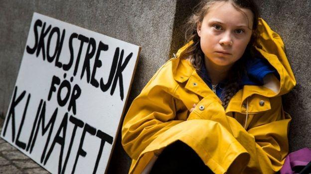 Thunberg dá um recado aos políticos: 'Ouçam a ciência, ouçam os cientistas. Convidem eles para conversar' (Foto: Getty Images)