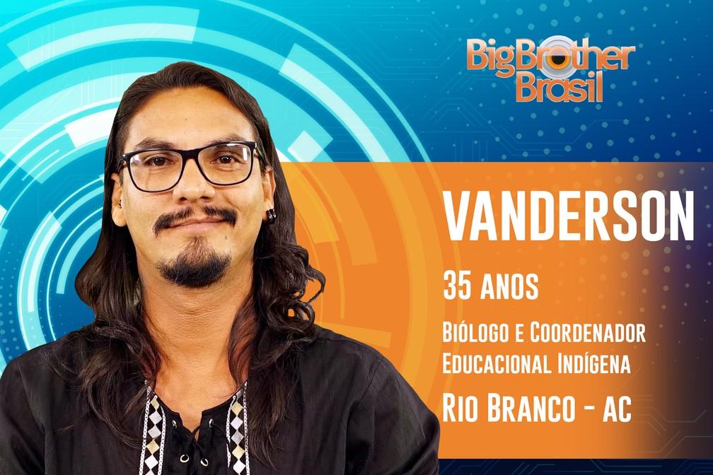 Vanderson, participante do 'BBB19' — Foto: Divulgação