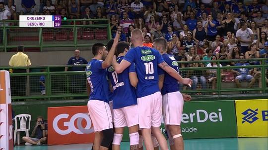 Melhores momentos de Cruzeiro 3 x 1 Sesc/Rio pela Superliga Masculina de Vôlei