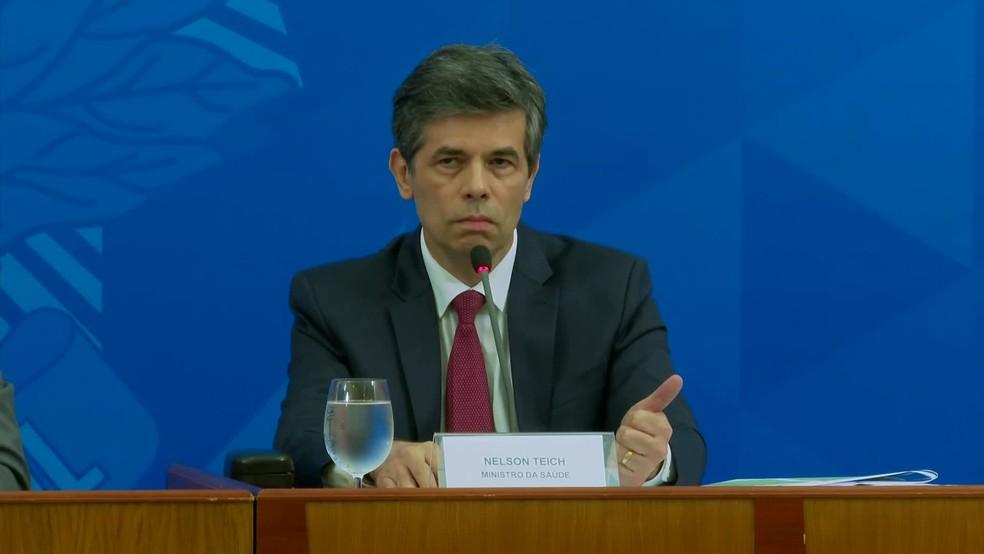Ministro da Saúde, Nelson Teich — Foto: Reprodução