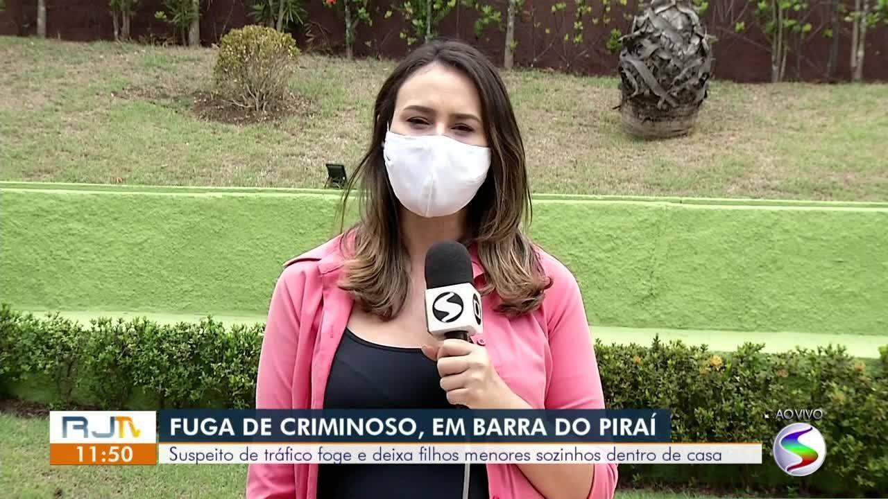 Suspeito de tráfico foge e deixa filhos menores sozinhos dentro de casa em Barra do Piraí