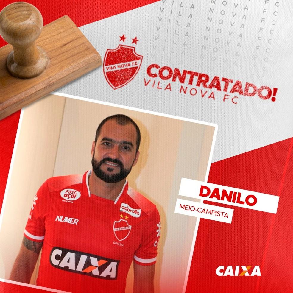 Vila Nova oficializa contratação de Danilo — Foto: Comunicação / Vila Nova