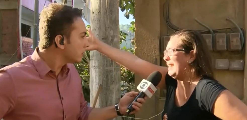 Filha de Maria Abreu contou que vizinhos ouviram gritos da mãe sob os escombros — Foto: Reprodução/ TV Globo