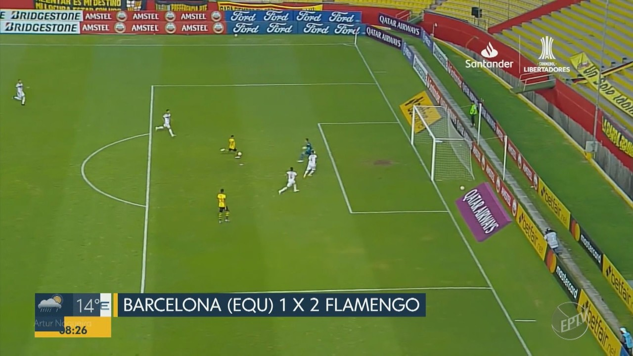Com 11 desfalques, Flamengo vence o Barcelona no Equador